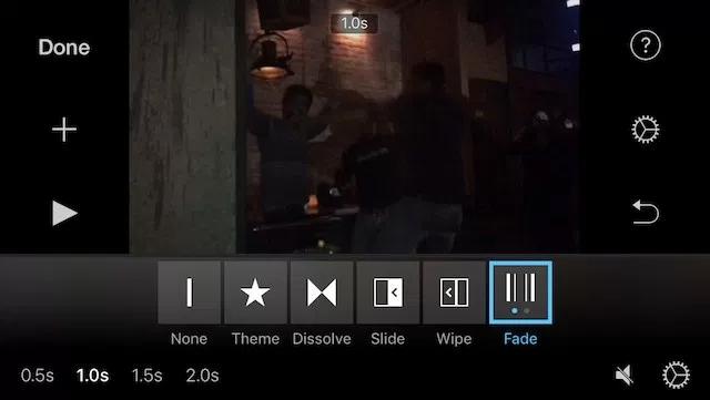Giao diện của iMovie