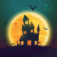 Làm thiệp Halloween bằng dấu vân tay đơn giản