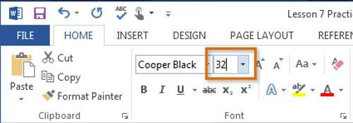 Click chọn hộp Font size và nhập kích thước font chữ mà bạn muốn, sau đó nhấn Enter.
