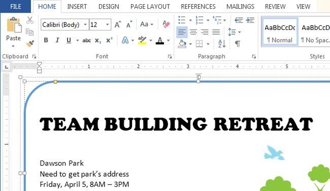 Kích thước font chữ trên tài liệu của bạn sẽ thay đổi