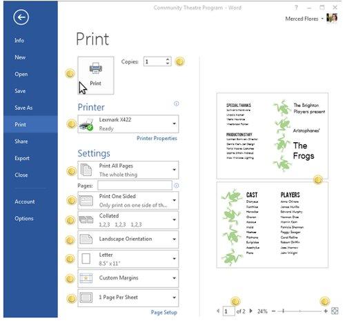Cách sử dụng Print