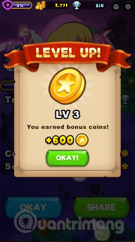 Tăng level kiếm tiền vàng