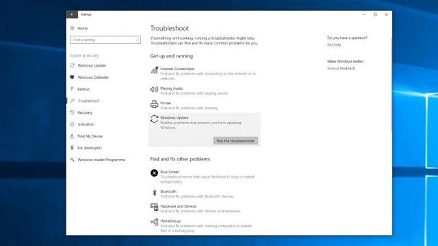 Cách khắc phục lỗi khi Windows Update bị thiếu