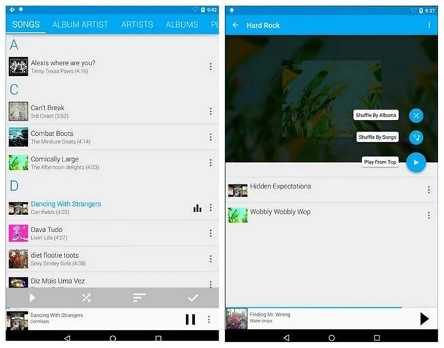 ứng dụng nghe nhạc miễn phí cho Android Ứng dụng Rocket Player