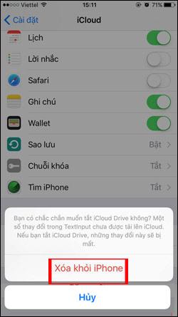 Xóa tài khoản iCloud trên iPhone
