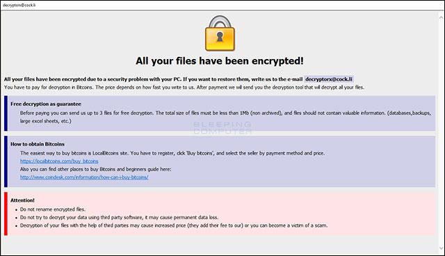 Thư mục chưa được bảo vệ vẫn bị mã hóa bởi ransomware