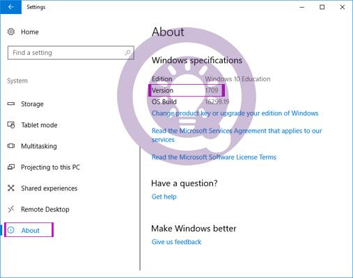 Cách kiểm tra phiên bản Windows 10 đang cài trên máy tính
