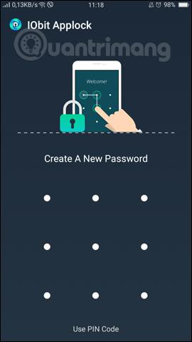 Thiết lập mật khẩu cho ứng dụng