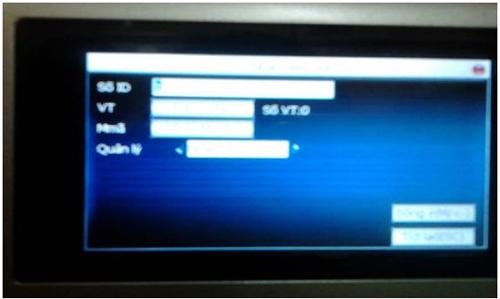 Khai báo thông tin nhân viên trong máy chấm công Ronald Jack X628-C