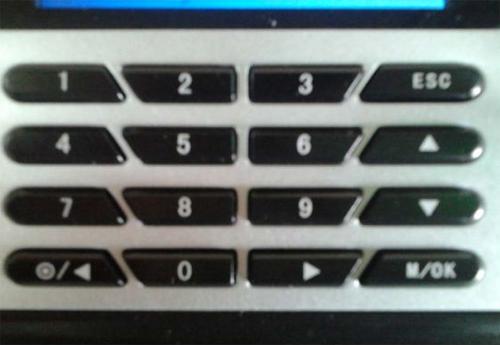 Các phím chức năng trên máy chấm công