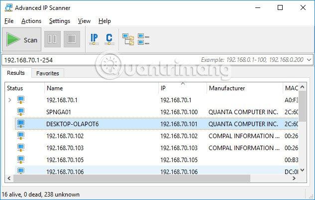 Phần mềm tìm địa chỉ IP Router