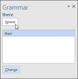 Các tùy chọn liên quan đến lỗi ngữ pháp