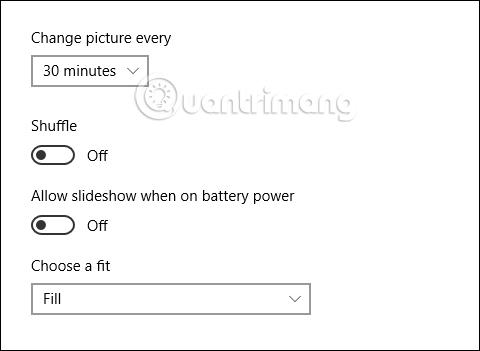 Tùy chỉnh hình nền theo slideshow