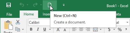 Lệnh sẽ được thêm vào Quick Access Toolbar.