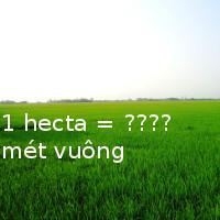 Đố bạn: 1 Ha (hecta) bằng bao nhiêu mét vuông, kilomet vuông?