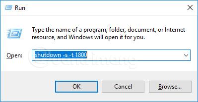 Nhập lệnh hẹn giờ tắt máy tính trên Windows