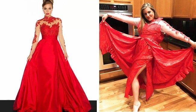 Do dáng người mặc không chuẩn hay do váy?