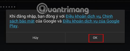Điều khoản đăng nhập Google