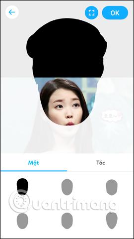 Tùy chỉnh giao diện khuôn mặt