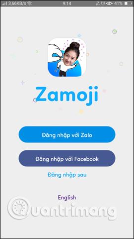 Đăng nhập Zamoji