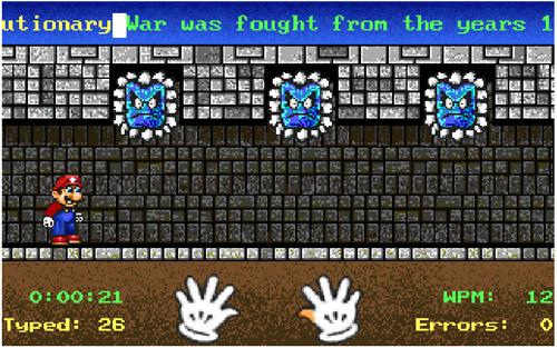 Luyện gõ phím với Mario Teaches Typing