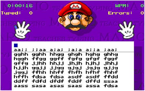 Luyện gõ 10 ngón với game Mario Teaches Typing