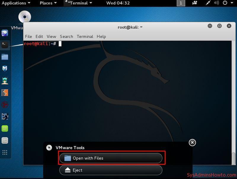 Cài đặt VMware Tools trên Kali Linux bước 7