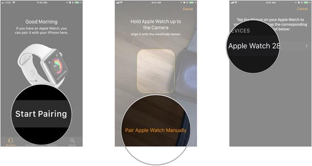 Tự ghép nối Apple Watch với iPhone