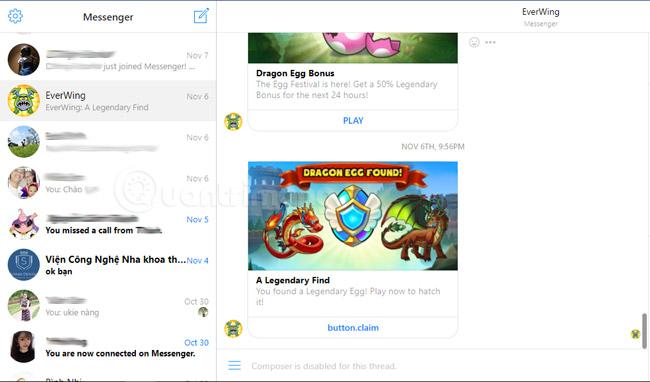 Chơi game trên Messenger