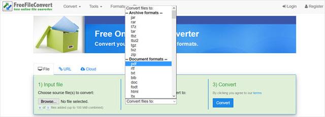Trang web Freefileconvert.com