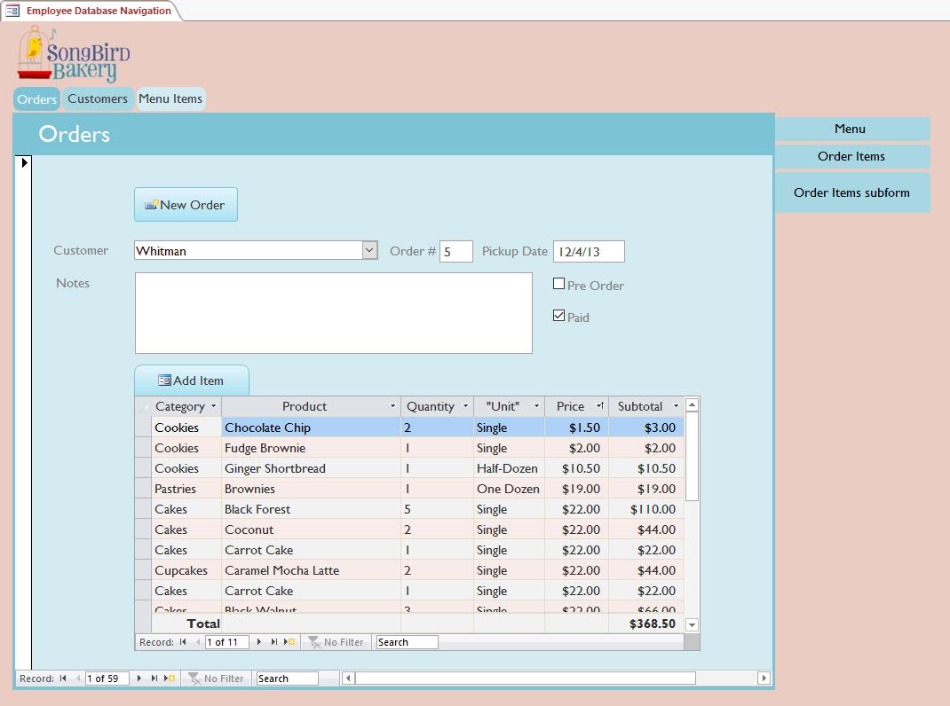 Form điều hướng trong Access 2016