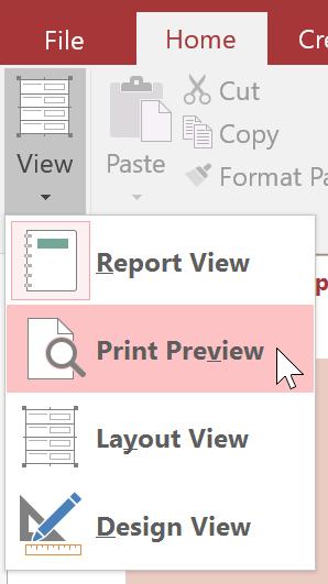 Chọn Print Preview