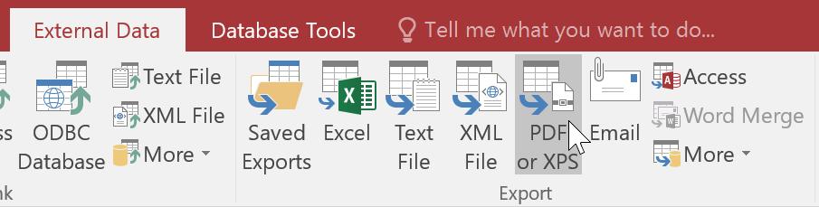 Chọn kiểu file muốn xuất báo cáo
