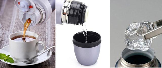Ngoài các thức uống bạn còn có thể sử dụng bình giữ nhiệt để bảo quản thức ăn, canh, súp, cháo, vô cùng thuận tiện.