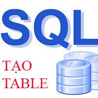 Lệnh CREATE TABLE trong SQL để tạo bảng cơ sở dữ liệu