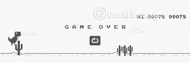 Chơi trò chơi trên Chrome khi bạn mất mạng