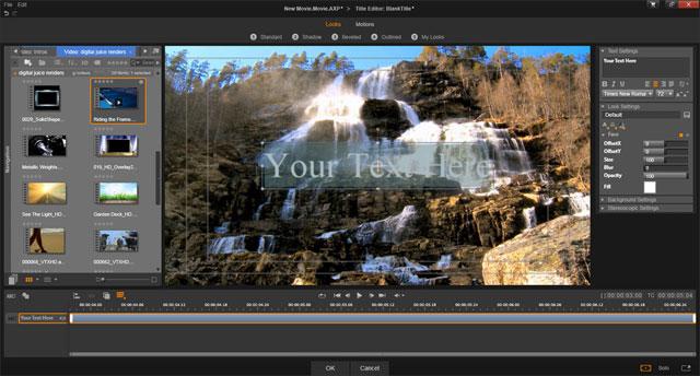 Giao diện phần mềm Pinnacle Studio