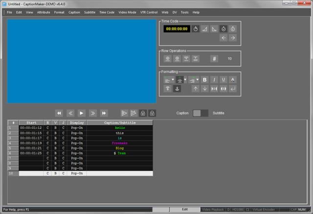 Phần mềm CaptionMaker