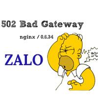 Zalo lại không truy cập được, toàn bộ hệ thống VNG bị sập