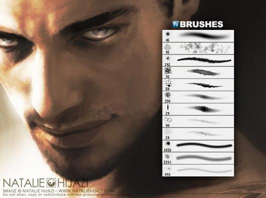 Brush dùng cho chỉnh sửa da mặt, chân dung
