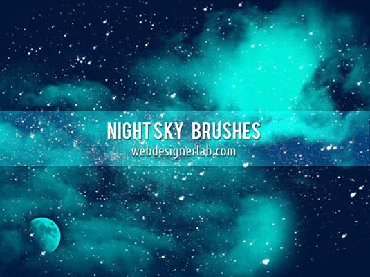 Brush hiệu ứng sao băng, trời đêm