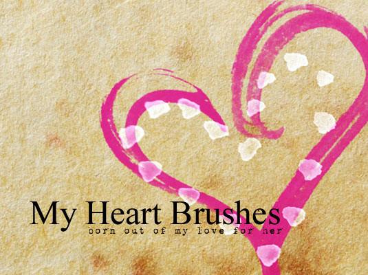 Brush các thù hình của trái tim