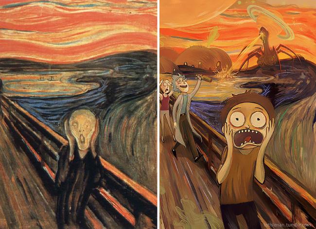 """The Scream (of Nature)"" của danh họa Edvard Munch"