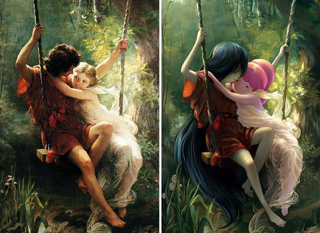 """Lovers On A Swing"" của danh họa Pierre Auguste"