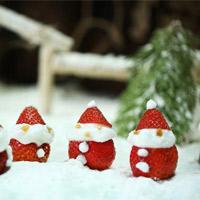 """""""Hô biến"""" rau củ quả thành những món đồ trang trí Giáng sinh siêu ngộ nghĩnh"""