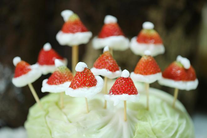 Trang trí Giáng sinh từ rau củ quả siêu ngộ nghĩnh