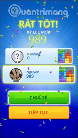 Tổng điểm về Tetris