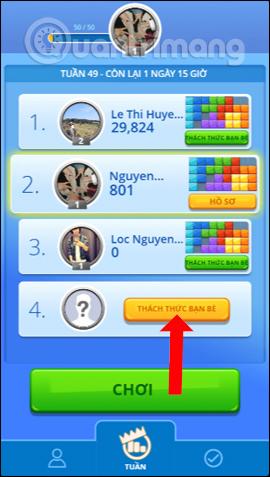 Thách thức bạn bè của bạn chơi Tetris