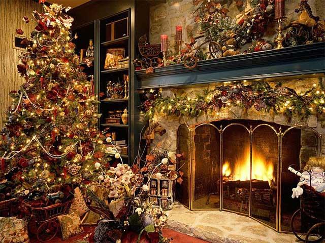 Hình nền các hình khối Giáng sinh của Puppyee