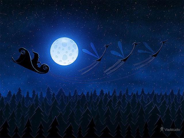 Hình nền Giáng sinh của những chú chim cánh cụt của Getwallpapers